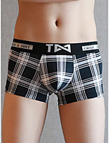 cheap -Men's Basic Boxers Underwear - Normal Low Waist White Black Blue M L XL
