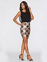 cheap -Women's A-Line Dress Short Mini Dress - Sleeveless Print Patchwork Summer Sexy Daily Going out 2020 Blue Gold S M L XL XXL