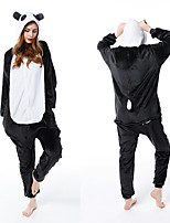 cheap -Adults' Kigurumi Pajamas Panda Onesie Pajamas Flannelette Black Cosplay For Men and Women Animal Sleepwear Cartoon Festival / Holiday Costumes