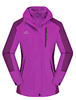cheap -Women's Girls' Hiking Jacket Winter Outdoor Thermal Warm Windproof Breathable Soft Jacket 3-in-1 Jacket Winter Jacket Camping / Hiking Hunting Climbing Violet / Light Green / Fuchsia