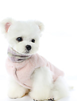 cheap -Dog Coat Jumpsuit Plaid / Check Reversible Cute Casual / Daily Winter Dog Clothes Warm Pink Gray Costume Polyster XS S M L XL