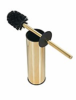 cheap -solid stainless steel toilet bowl brush and holder- stainless steel 304 handle toilet scrubber (gold)