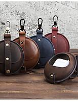 cheap -Case For AirPods  Pro Flip Headphone Case Soft genuine leather vintage buckle with Keychain Protective Cover