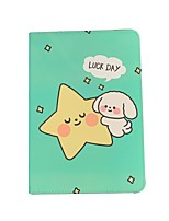 cheap -Case For Apple iPad  Mini 3 2 1 iPad Mini 4 iPad Mini 5 with Stand Flip Full Body Cases PU Leather TPU Protective Stand Cover Pattern cute lovely word phrase animal puppy stars
