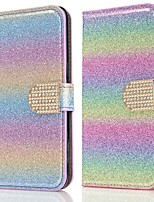 cheap -Case For Samsung Galaxy Note 20 Ultra S20 Plus S10 Plus Wallet Card Holder with Stand Glitter Shine Drill Buckle PU Leather Case For Samsung S9 Plus  S8 Plus  S7 Edge Note 10 Plus A51 A71