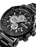 cheap -Men's Sport Watch Digital Modern Style Stylish Outdoor Calendar / date / day Analog - Digital Black / Silver White+Gold Black / One Year / Stainless Steel / Chronograph / Three Time Zones / Stopwatch