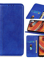 cheap -Case For Samsung Galaxy M10 A10 M20 S10 5G A40 A50 A50S A30S A20 A30 M10S A70 M30 A40S A20E A2 Core A60 M40 A80 A90 Flip Magnetic Full Body Cases Solid Colored PU Leather
