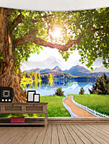 cheap -Digital Printed Tapestry of Xiaohu Ancient Wood Trail Classic Theme Wall Decor 100% Polyester Contemporary Wall Art Wall Tapestries Decoration