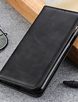 cheap -Case For LG LG G8 ThinQ V50 ThinQ G8S ThinQ K50 Q60 Stylo 5 LG K40 W30 W10 K30 2019 K20 2019 G8X ThinQ Card Holder Flip Full Body Cases Solid Colored PU Leather