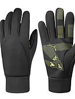 cheap -Winter Bike Gloves / Cycling Gloves Mountain Bike Gloves Mountain Bike MTB Road Bike Cycling Thermal / Warm Touch Screen Windproof Breathable Full Finger Gloves Sports Gloves Fleece Black / Yellow