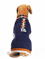 cheap -classic pet dog winter clothes cute necktie,button design soft thickening warmer knitted sweater for dogs & #40;1-blue, large& #41;