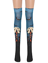 cheap -Witch Cosplay Costume Socks / Long Stockings Adults' Women's Cosplay Halloween Halloween Festival / Holiday Nylon Fiber Blue / Green Women's Easy Carnival Costumes