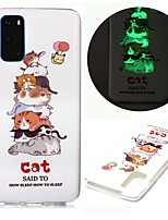 cheap -Case For Samsung Galaxy S20 Ultra S10E S9 Plus S8 S7 Edge S6 S5 A21S A21 A31 M11 Glow in the Dark Pattern Back Cover Cat TPU