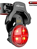 cheap -bike tail light smart sensing bicycle rear brake light wireless usb rechargeable tail light with 5 lighting modes waterproof led safety light fits road/mountain bike (black)