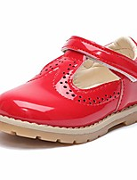 cheap -girl's mary jane school uniform shoes party dress shoes for kids princess flat (8 toddler,a/red)