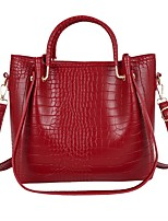 cheap -Women's Bags PU Leather Top Handle Bag Zipper for Daily / Date Black / Red / Brown / Beige