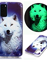 cheap -Case For Samsung Galaxy S20 Ultra S10E S9 Plus S8 S7 Edge S6 S5 A21S A21 A31 M11 Glow in the Dark Pattern Back Cover Animal TPU
