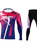 cheap -BIKEBOY Men's Women's Long Sleeve Cycling Jersey Cycling Pants Purple Bike Quick Dry Sports Mountain Bike MTB Road Bike Cycling Clothing Apparel / Stretchy