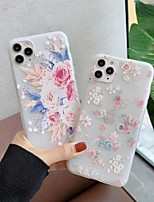 cheap -Case For  iPhone 5 5C 5S SE 6 6s 7 8 6plus 6splus 7plus 8plus X XR XS XSMax SE(2020) iPhone 11 11Pro 11ProMax Ultra-thin Transparent Pattern Back Cover Flower TPU