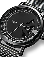 cheap -YAZOLE Men's Steel Band Watches Quartz Sporty Stylish Casual Water Resistant / Waterproof Analog - Digital Black / Stainless Steel