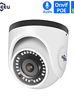 cheap -Hiseeu 4K POE IP Camera Audio Indoor 8MP Network Dome Security CCTV Camera IR H.265 CCTV Video Surveillance Onvif
