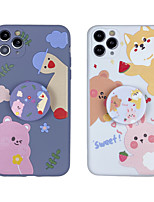 cheap -Case For iphone 7 8 7p 8p X XS MAX XR 11 11 PRO 11 PRO MAX   Pattern Back Cover Word  Phrase TPU cute with Stand