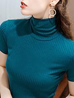 cheap -Ballroom Dance Top Ruching Women's Performance Short Sleeve Woolen