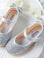 cheap -Girls' Flats Flower Girl Shoes Leather Little Kids(4-7ys) / Big Kids(7years +) Walking Shoes Rhinestone Blue / Pink / Gold Spring / Summer