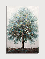 cheap -Hand-Painted Abstract Landscape Tree Painting Canvas Art Painting Abstract Acrylic Painting Modern Art Textured Art with Stretcher Ready to Hang With Stretched Frame