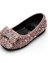 cheap -Girls' Flats Ballerina Rubber Little Kids(4-7ys) / Big Kids(7years +) Walking Shoes Rhinestone Black / Pink / Gold Summer