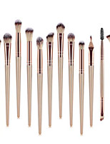 cheap -Professional Makeup Brushes 12pcs Professional Soft Full Coverage Color Gradient Plastic for Eyeliner Brush Blush Brush Foundation Brush Makeup Brush Lip Brush Eyebrow Brush Eyeshadow Brush