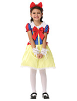 cheap -Princess Flapper Dress Dress Girls' Movie Cosplay A-Line Slip Active Blue Dress Headwear Bracelets Halloween Children's Day Masquerade Polyester Organza