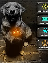 cheap -pack of 2 pcs led dog tags, bone-shape clip-on light up pet pendants glow in the dark, pet id tags dog safety lights for nighttime dog walking(brown)