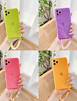 cheap -Case For Apple iPhone 7 7Plus iPhone 8 8Plus iPhone X iPhone XS XR XS max iPhone 11 11 Pro 11 Pro Max SE Transparent Back Cover Solid Colored TPU