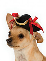 cheap -Dog Halloween Costumes Bandanas & Hats Sailor Cowboy Cool Christmas Party Dog Clothes Breathable Black Costume Polyster