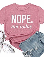 cheap -women's nope not today short sleeve christmas t-shirt graphic tees tops casual cute tops funny blouse tee (xx-large, red)