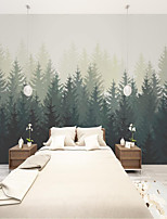 cheap -Modern Wall Covering   Custom Self Adhesive Mural Wall Paper Simple Leaf Drawing Suitable For Bedroom Living Room Coffee Shop Restaurant Hotel Wall Decoration Art