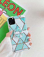 cheap -Case For Apple iPhone 7 8 7 Plus 8 Plus X XS XR XS Max SE 11 11 Pro 11 Pro Max with Stand Plating Pattern Back Cover Marble TPU