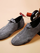 cheap -Men's Summer / Fall Business / Vintage / British Office & Career Loafers & Slip-Ons Nappa Leather Breathable Non-slipping Wear Proof Khaki / Gray