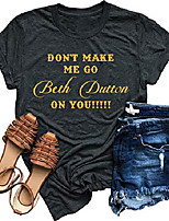 cheap -beth dutton tv show t-shirt women funny letters vintage graphic shirts short sleeve casual tees tops& #40;medium, grey& #41;