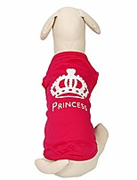 cheap -pink princess dog t-shirt small dog shirt cat t shirt puppy dog clothes dog basics