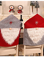 cheap -Christmas Chair Covers Set of 2, Santa Hat Chair Back Suit Slipcovers for Home Kitchen Dining Room Holiday Party Décor (Red&Grey)