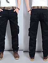 cheap -Men's Hiking Pants Hiking Cargo Pants Summer Outdoor Loose Breathable Soft Comfortable Anti-tear Cotton Pants / Trousers Bottoms Black Army Green Khaki Hunting Fishing Climbing 28 29 30 31 32