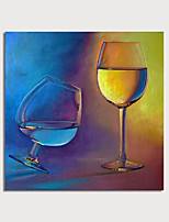 cheap -Hand Painted Canvas Oilpainting Abstract Still Life Wine Home Decoration with Frame Painting Ready to Hang With Stretched Frame