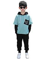 cheap -Kids Boys' Basic Print Long Sleeve Regular Regular Clothing Set Blushing Pink