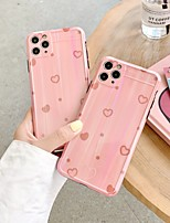 cheap -Case For iPhone 7 8 7plus 8plus X XR XS XSMax SE(2020) iPhone 11 11Pro 11ProMax Shockproof Pattern Back Cover Heart TPU