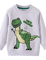 cheap -Kids Boys' Basic Dinosaur Solid Colored Animal Print Long Sleeve Blouse White