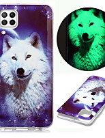 cheap -Case For Huawei P Smart 2020 P40 Lite E P20 Pro P30 Y5P Y6 2019 Y7P Huawei Honor 10 Lite Glow in the Dark Pattern Back Cover Animal TPU