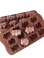 cheap -Cake Molds Silicone Cake Molds Everyday Use Creative 12 Companies Interesting Silicone Robot Small Figure Ice Grid