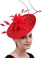 cheap -Queen Elizabeth Audrey Hepburn Retro Vintage 1950s 1920s Kentucky Derby Hat Pillbox Hat Women's Costume Hat Black / Red Vintage Cosplay Party Prom